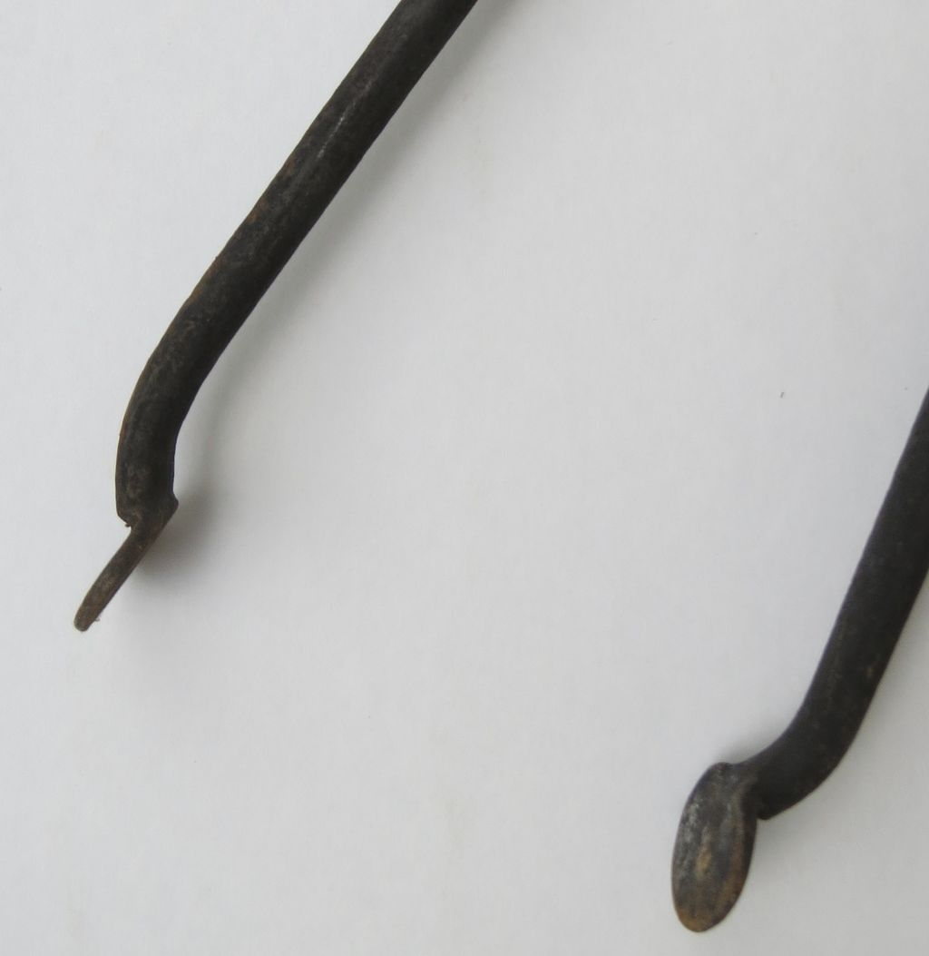 wrought iron hand forged fireplace tongs sold on ruby lane