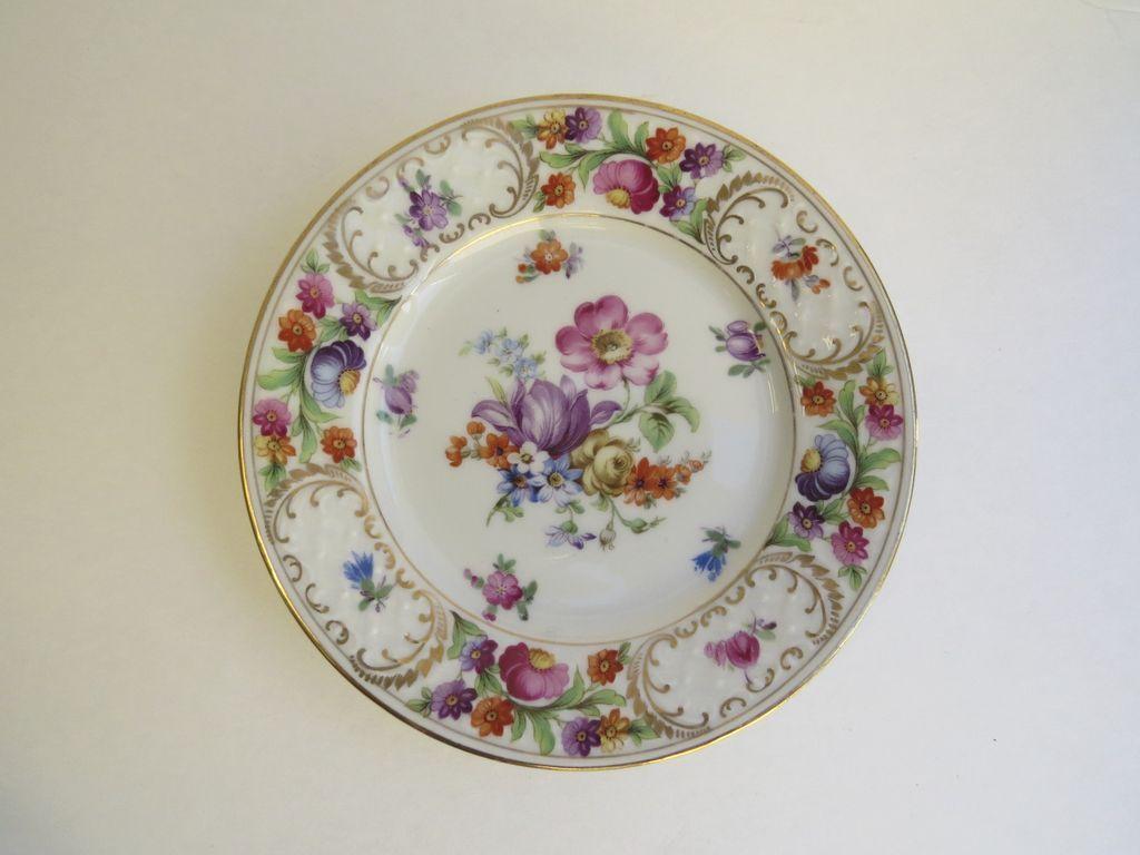 """Set of 5 Dresden Barvaria 5 7/8"""" Plates"""