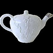 Meissen Porcelain Teapot with Raised Relief Decoration, circa 1780 1774 -1810 Meissen Era (P.839)