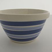 Vintage English Cornish Blue Stripe Bowl