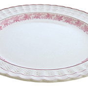 Large Round Spode Valencia Platter