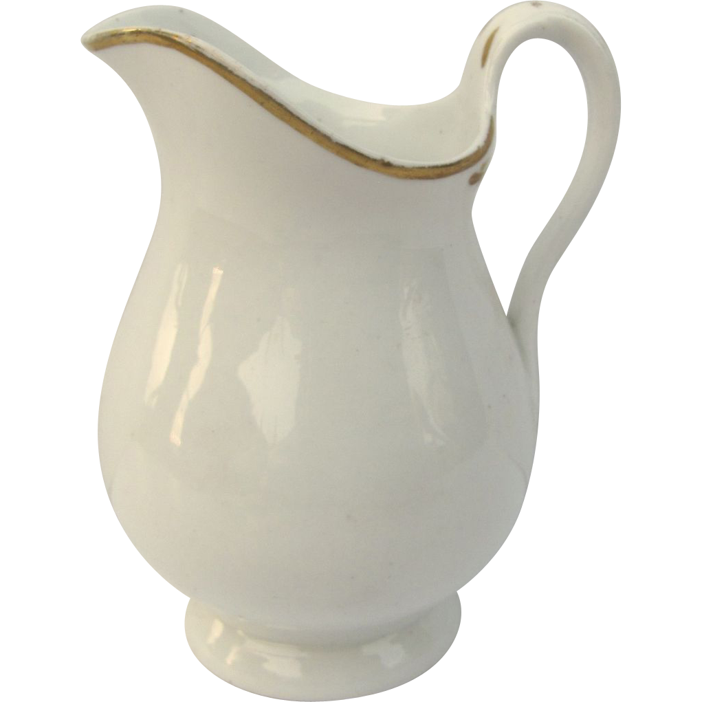 Old Paris White Gold Hot Milk Pitcher from blacktulip on ...