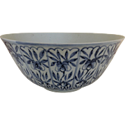 Rare and Wonderful Large Blue and White Chinese Porcelain Bowl Circa: 1825 Dao Guang Period