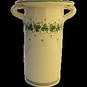 Vintage Italian Faience Pottery Bottle Holder Utensil
