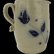 Vintage Stoneware Salt Glaze Pitcher Tulip