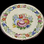 Vintage DITMAR URBACH Hand Painted Floral Wall Plate Czech Czechoslovakian