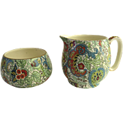English Grimwades Royal Winton Cream and Sugar Chintz
