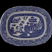 English Small Shallow Rectangular Bowl Ridgeway Late 19th Century