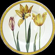 """Vintage Laure Japy Tulips Limoges Paris France 10 1/2"""" Dinner"""