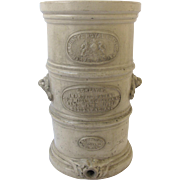 English Stoneware Water Filter by G. Cheavins Umbrella Stand Trash Waste Bin Can