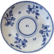 Small Early 19th Century English Blue and White Dish c 1800