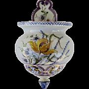 Vintage Wall Flower Pocket Vase by the Company Carvalhinho Porto in Portugal.