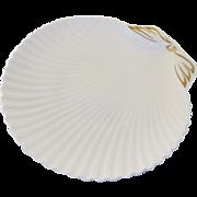 Vintage Spode Bone China England Clam Shell Gilt Serving Dish