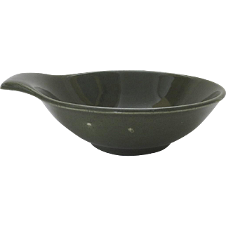 Russel Wright Cedar Green Olive Lug Fruit Bowl
