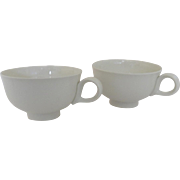 Two Eva Zeisel Classic All White Coffee Tea Cups