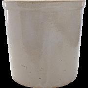 1940's 1950's Stoneware Crock Spoon Holder Flower Pot