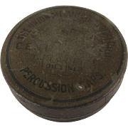 Old Round Tin Union Metallic Cartridge Co.  Bridgeport, Conn. USA  F.C. - Central Fire Percussion Caps