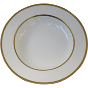 "19th Century Gold Border Minton Shallow Bowl 7 3/4"" Diameter"