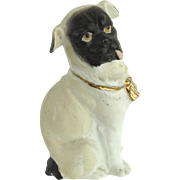Vintage Victorian Bisque Pug Figurine Gilt Collar - Red Tag Sale Item