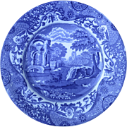 "Older Mark Spode Copeland Blue and White Italian England 9"" Plate Salad Dessert"
