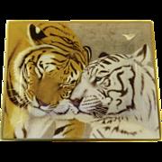 Vintage Hermes Calin Felin Limoges Porcelain Tray