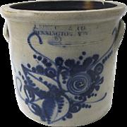 J. Norton & Co 2-Gallon Pottery Crock, Bennington Vermont, 19th Century