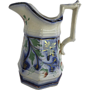 Gaudy Welsh Jug Pitcher Mid-19th Century