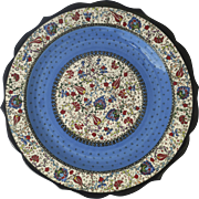 Turkish Pinar Cini Platter/Serving Plate Hand-Painted Signed