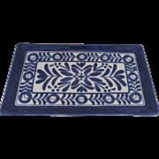 Blue and White Pottery Glazed Small Rectangular Tray Dish