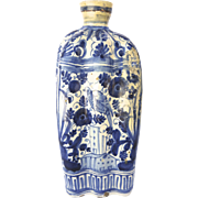 19th Century Delft Bottle Vase Shaped
