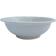 Large White Country Kitchen Ironstone Bowl by Alfred Meakin England English