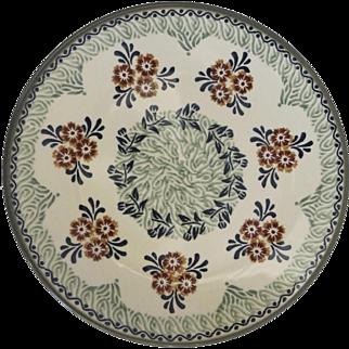 "Vintage Polish Poland Pottery Dinner Plate Unikat 10"" Signed"