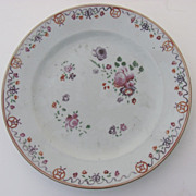 Chinese Export Famile Rose Plate