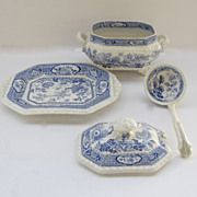 Sauce Tureen with Under plate and Ladle