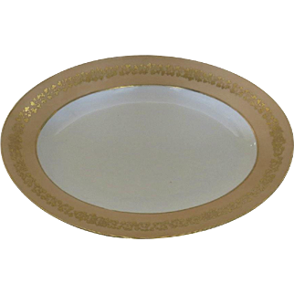 """French 19th Century Old Paris Sauce Large Oval Patter 17"""" by 12"""" Gilt"""