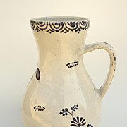 Dutch Delft Mulberry Jug.