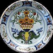 Dutch Polychrome Plate As Is