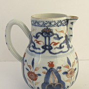 Chinese Export Sparrow Beak Pitcher in Imari Colors