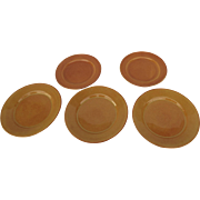 "Vintage Gladding McBean/Franciscan Pottery Plates (5) 3 x 10.5"" -  2 x 9.5"""
