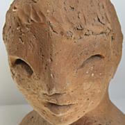 Mid Century Terra Cotta Bust