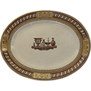 """English """"Etruscan Vases"""" Oval Platter 14 1/2"""" by 11 1/2"""""""