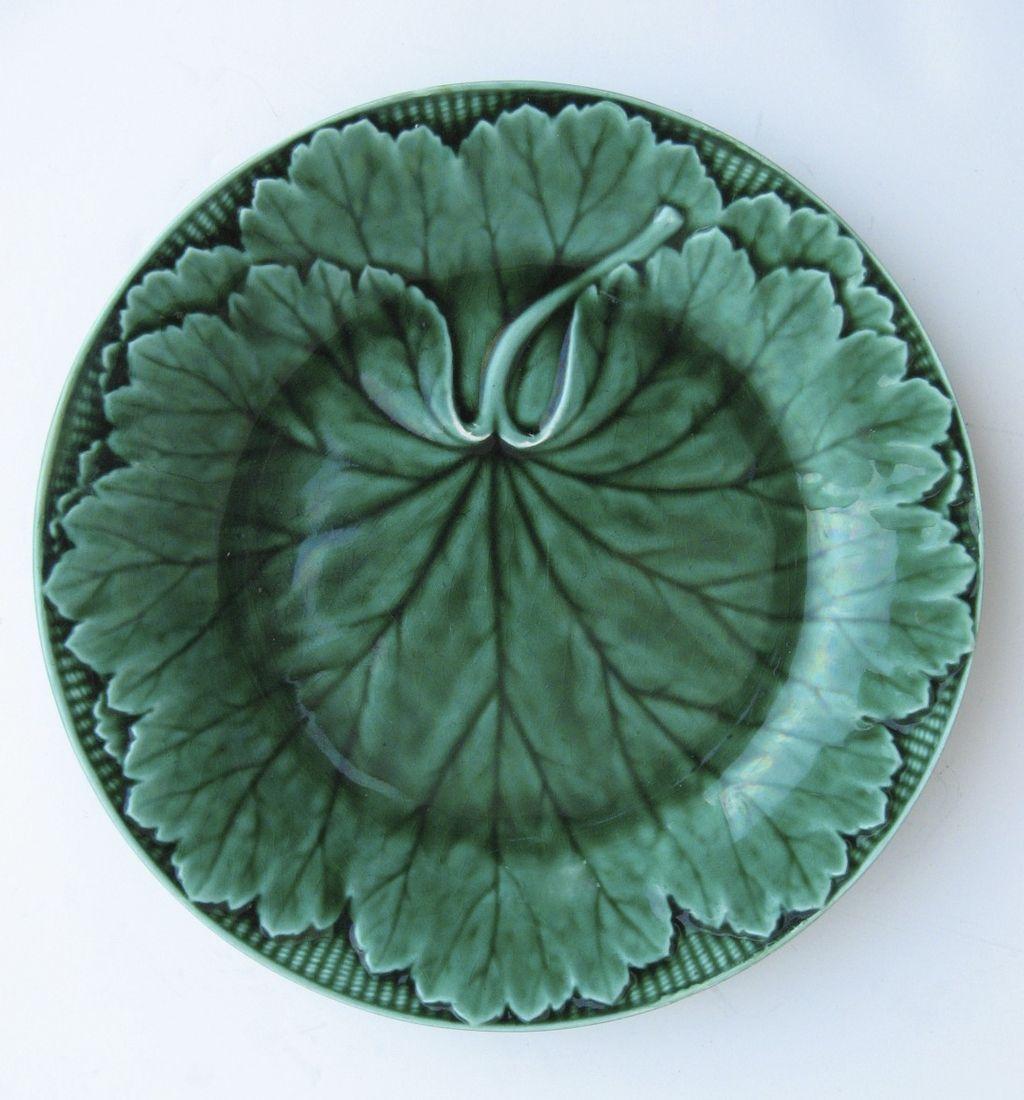 English Wedgwood Majolica Leaf Plate