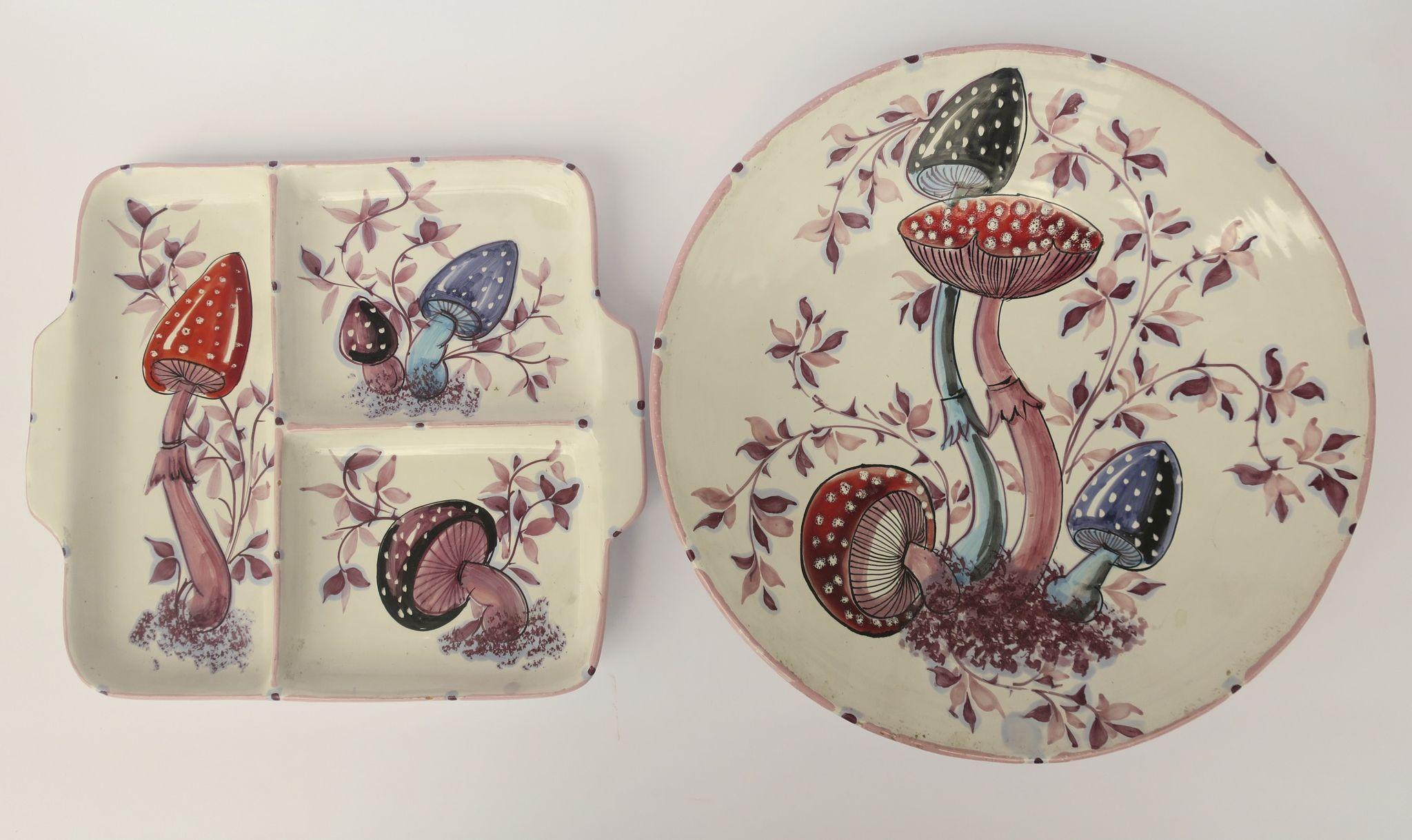 Italian Mid Century Charger and Divided Plate