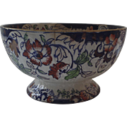 English Ironstone Amherst Japan Footed Punch Bowl c1900