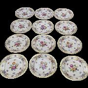 "Vintage Dresden Schumann Bavaria Set of 12 Dessert Salad Plates 7 1/2"""