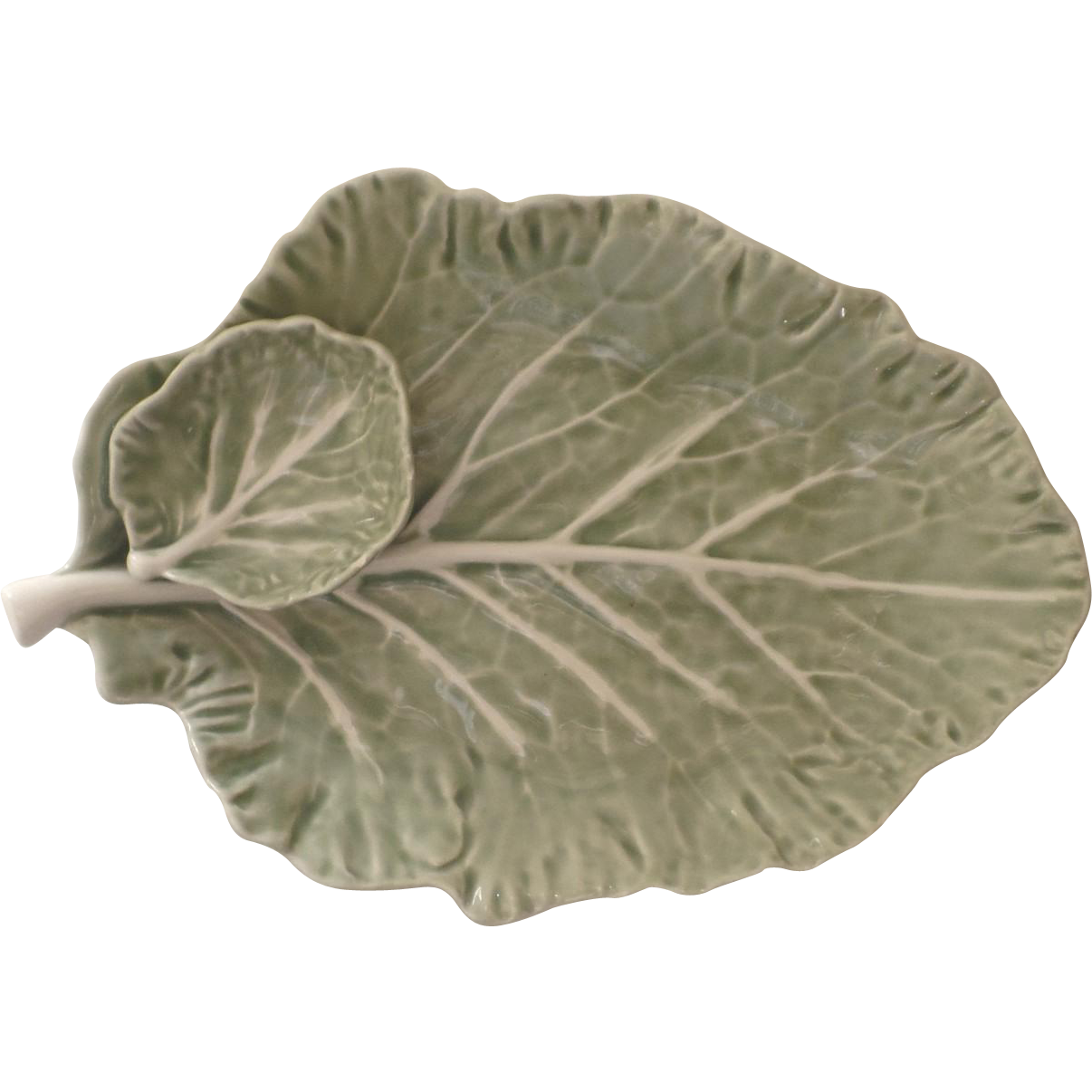 Vintage bordallo pinheiro cabbage portugal platter chip - Bordallo pinheiro portugal ...