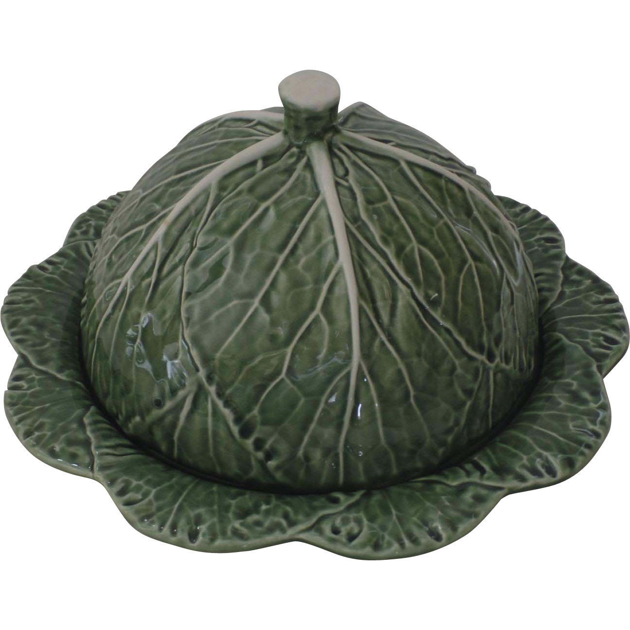 Vintage bordallo pinheiro cabbage portugal cheese dome - Bordallo pinheiro portugal ...