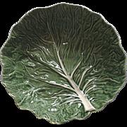Vintage Large Cabbage Leaf Salad Bowl by Bordallo Pinheiro