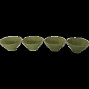 4 x Mid Century Campo California Porcelain Bowls