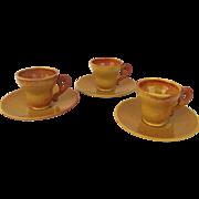 Vintage Gladding McBean/Franciscan Pottery Cup Saucers Demitasse